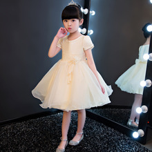 Flower girl new princess dress for wedding party summer for size 3 4 5 6 7 8 9 10 years child 61 presided over the piano costume