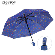 Automatic Umbrella Rain Women Men 3Fold Light and Durable Strong Colourful Jigsaw puzzle Umbrellas Kids Rainy Sunny Wholesale