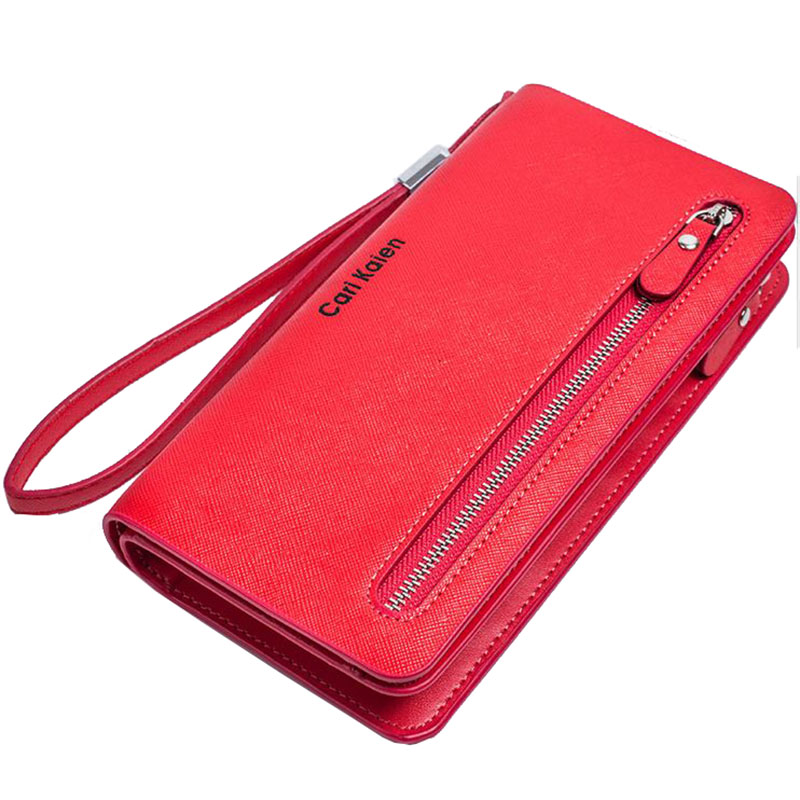 New Fashion Long Women Clutch Bag High Qualtiy PVC Wallets Multifunction Zipper&amp;Hasp Card Clutch Wallet 6 Colors Coin Purse 2016<br><br>Aliexpress