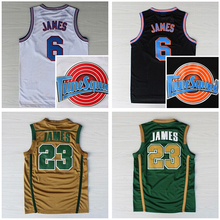 St. Vincent Mary High School Irish 23 James Jerseys Basketball Shirt Tune Squad TOONES TuneSquad Space Jam Green White(China)
