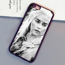 Daenerys Targaryen Game of Throne GOT Phone Cases Bags For iPhone 6 6S Plus 7 7 Plus 5 5S 5C SE 4S Soft Rubber Back Cover Shell