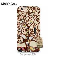 Black tpu silicone Tree of Life by Klimt Colourful Style Design   Cell phone case For case iPhone 5s 6s 6splus 7 7plus
