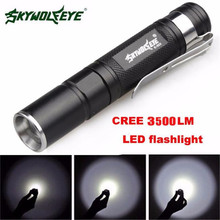 Super Mini 3500LM CREE Q5 LED Flashlight 3 Mode Torch Super Bright Light Lamp(China)