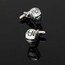 XK269 High quality men's shirts Silver Cufflinks movie iron man Cufflinks gentleman men's shirt clothing gifts(China)