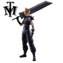Anime Play arts Kai Final Fantasy VII Cloud Strife Action Figure Collection Toy Model Playarts game Kids Gift Original Box(China)