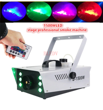Wholesale high-quality LED 1500W Fog Machine Large professional1500w RGB LED Smoke Machine Stage Special Effects dj equipment(China)