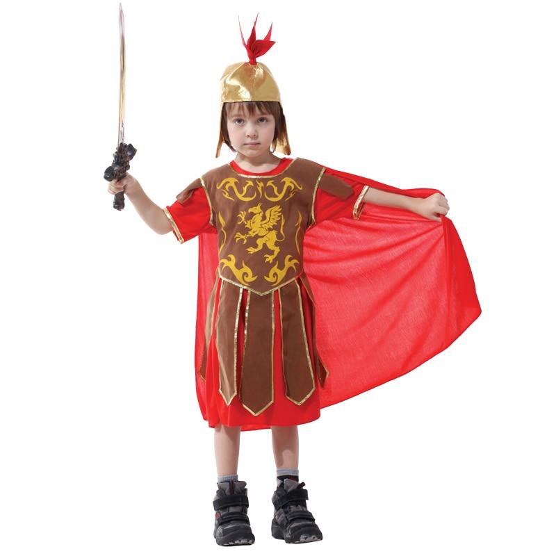 Boys Roman Solder Fancy Dress Costume Gladiator Child Greek Boy Kids Outfit New