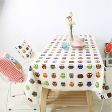 Home Decors New Korean Cute Owl Cotton Tablecloths Tablecloth Cover Towel Factory Direct Wholesale Cotton Table Cloth