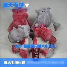 Sale Discount NICI plush toy stuffed doll cartoon animal hippo lover gentleman Tie hippopotamus bedtime story birthday gift 1pc(China)