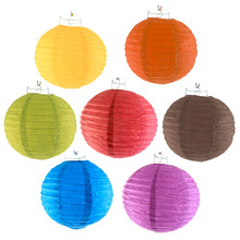 10pcs 8 -10 inch Durable Chinese Paper Lanterns Ball Party Wedding Decoration Christmas Halloween Hanging Decor Accessories