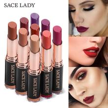 SACE LADY Matte Lipstick 18 Colors Long Lasting Red Lip Stick Waterproof Makeup Brand Comfortable Make Up Moisturizer Cosmetic(China)