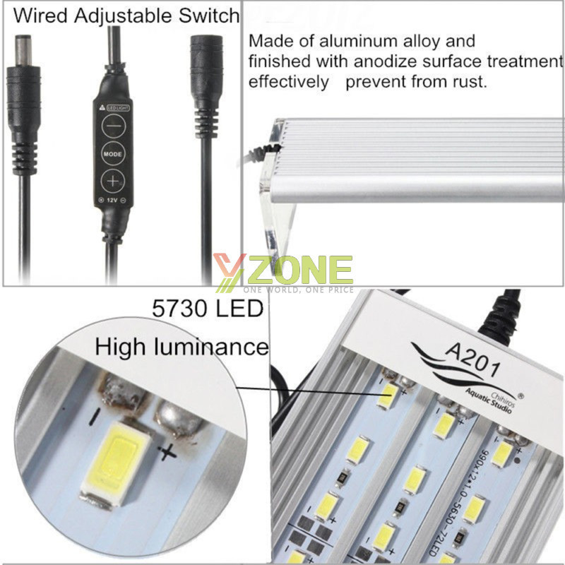 A-Series Aquarium 5730 LED Lamp 12-39W LED Fish Tank Light 100~240v Brief Aquarium Aquatic Water Plant Grow Light14