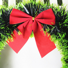 New Arrival Christmas Wreath Door Wall Hanging Ornaments Xmas Garland Window Party Tree Hoom Christmas Decorations (Green Brim)
