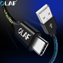 Olaf USB C Cable Samsung Galaxy S9 S8 Plus USB Type C Fast Charging Data Cable Xiaomi Mi 8 Oneplus 6 USB Charger Cord