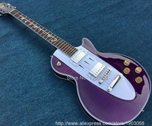 New Arrival Custom Shop 1960 Corvette purple electric guitar,symbol of music fingerboard,OEM,Free shipping(China)