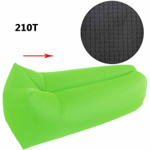 New 2017 Fast Inflatable Air Sofa Couch Hammock Portable Foldable Waterproof Polyester Outdoor Lazy Bag Sleeping Bag KX0903