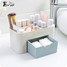 Two colors Jewelery organizer Box Plastic Desktop Cosmetic makeup Case with Small Drawer Storage Box