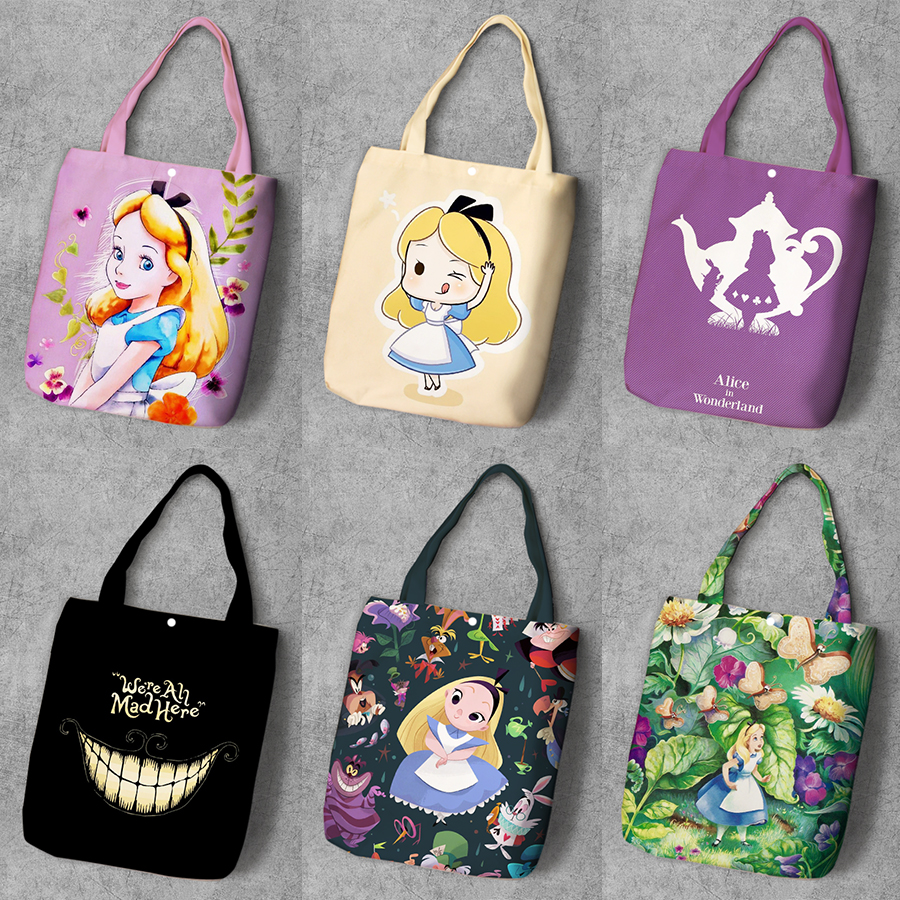 Beauty and the Beast Inspired Cotton Tote Bag Princess Birthday Gift