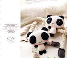 Super Cute 2Models - Lover Panda 7*6CM Plush Stuffed TOY DOLL - String Pendant TOY Wedding Gift TOY Bouquet DOLL(China)