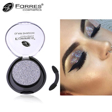 1PC Professional Eye Shadow Waterproof Makeup Long Lasting Pigmented Glitter Shimmer Dark Red Silver Eyeshadow Single Palette(China)