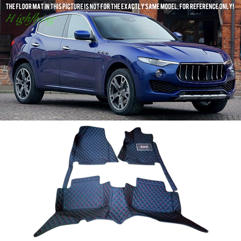 Car Interior Accessories Floor Mats Carpets Foot Pad Protector Covers Black For Maserati Levante 2016 2017<br><br>Aliexpress
