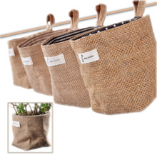 1pc pack Waterproof Jute Storage Bucket with cotton lining natural jute color 12*10*10CM Toy Storage bag flower pot