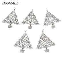 Hoomall 5PCs Metal Alloy Christmas Tree Ornaments Hanging Drop Pendant Christmas Gift DIY Kids Favor Gifts Tree Decorations
