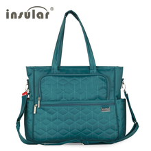 high quality plaid Multifunctional mother Messenger bag fashion waterproof Maternity tote nappy bags baby stroller diaper bag(China)