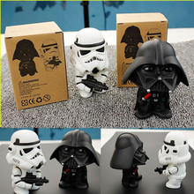 1 pcs Star Wars Action Figures White Black Knight Darth Vader 10-11 cm PVC Model Color Box Packing Kid Gift Toy