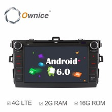 4G Internet Quad Core 2GB RAM Android 6.0 for Toyota Corolla 2007 2008 2009 2010 2011 Car DVD Radio GPS Navigation Stereo System