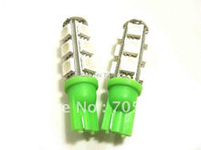 One pair GREEN W5W WEDGE 5050 3 CHIPS LIGHT 13 SMD LED BULBS LED Car Interior bulbs LED instruction auto lights