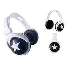 High Quality Headset Fashion Big Star Headphone  for MP4 MP3 Mobile Phone Laptop