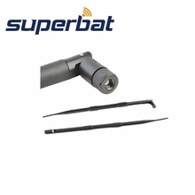 Superbat High Gain 9dBi 2.4GHz Omni WiFi Antenna Booster Aerial RP-SMA Male for Wireless Router WLANs PCI card Rubber Antenna(China)