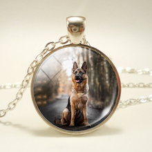 Glass Dome Necklace Your Favorite Wolf Dog Necklace Jewelry Lovely Pet Jewelry Art Picture Handcrafted Simple Design(China)