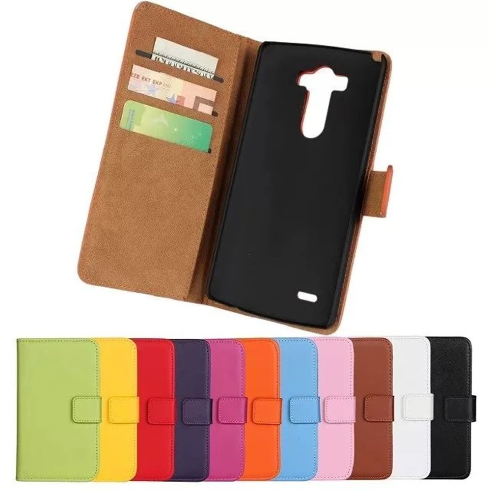 Luxury Genuine Leather Phone Case LG G3 Wallet Style Card Slot Holder Flip Stand Cover Cases Cellphone Accessories