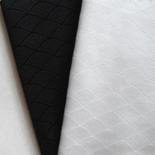 1 yard Black Soft Lingerie Spandex High Stretch Fabric Fish Scale Knit Cloth Brazil White Sport Training Soccer Jerseys Fabric