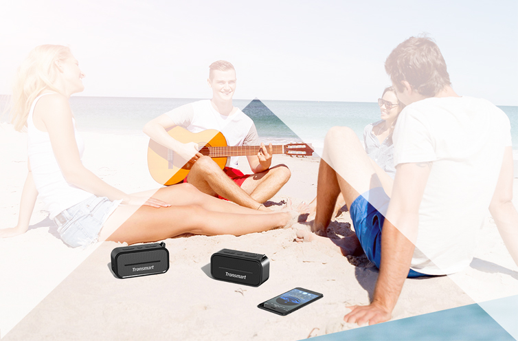 Tronsmart Element T2 Bluetooth 4.2 Outdoor Water Resistant Speaker Portable and Mini Speaker- Black
