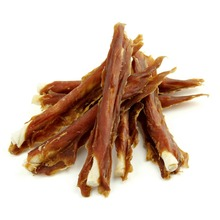 Pet Cuisine Pet Dog Health Meat Treats Puppy Chewy, Duck Jerky & Pigskin Sticks, 340g(China)