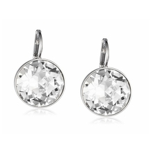 Clear Crystal from Swarovski Earrings Bella Pierced Drop Dangle Earrings For Women