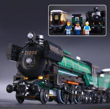 lepin 1085Pcs 21005 Technic Series Emerald Night Train Model Building Kits Block Bricks Children Gigt Toys 10194