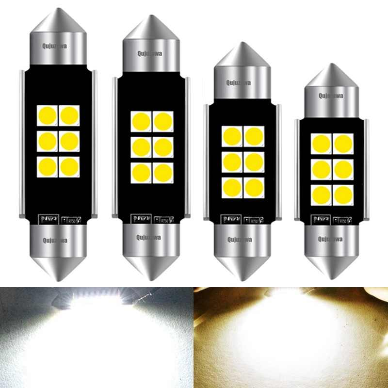 4PCS 31mm 36mm 39mm 41mm Newest Super Bright 3030 LED FESTOON Bulb C5W Car Dome Light Canbus No Error Auto Interior Reading Lamp
