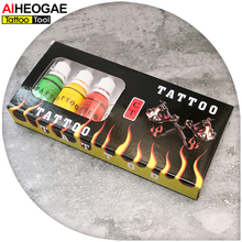 Hot Sale Tattoo Ink 7 Colors for Tattoo Machine Gun Kit Pigment Professional 15ml Tattoo Ink for Lining and Shading INK405(China)