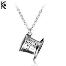 Buy Classic Alice Wonderland Mad Hatter Hat Pendant Necklace fashion chain link statement necklace Christmas gift friends for $1.48 in AliExpress store