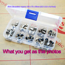 50pcs totally  5pcs each of 10 types 4 Wire 2 Phase dc micro stepper motor Mini stepper motor Assorted box free shiping