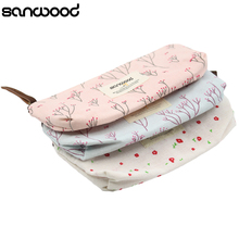 2015 Fresh Flower Floral Pencil Pen Case Cosmetic Makeup Bag Storage Pouch Purse Hot 2015 6NQU