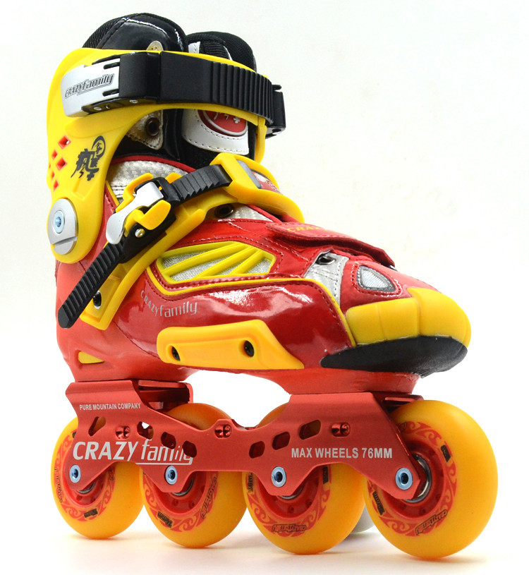 CRAZY ! !AMAZING !Patines 4 Ruedas Skating Shoes High-end Adult HV Skates Professional Brakes Flat Flower Straight Men and Women<br><br>Aliexpress
