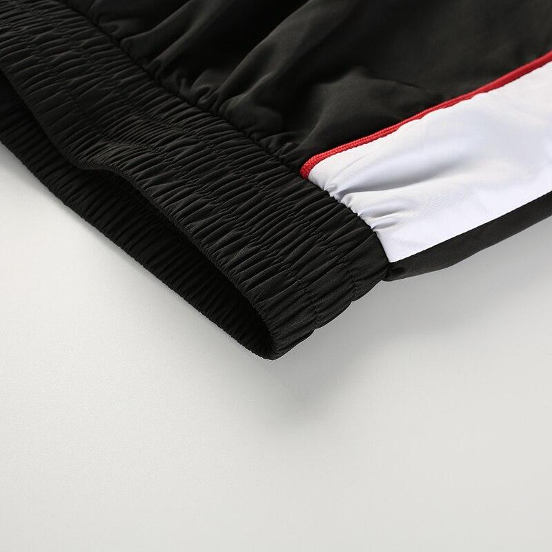 12Sweetown Woman Pencil Pants Casual Loose Pantalon Femme Spliced Panelled Joggers Women Woven Elastic High Waist Ladies Trousers