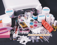 Promotion All In One 36W UV Gel Lamp Dryer NAIL ART Glitter Salon Polish TIPS SET KIT Shipping