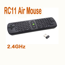by dhl or ems 30 pieces Mini Fly Air Mouse RC11 2.4GHz wireless Keyboard for Google TV Player,for Android Mini PC TV Box Dongle