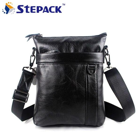 2016 Brand New High Quality Genuine Leather Men Bag Leisure Men Shoulder Bag Business Bag For Men s Travel Bag WMB0113<br>